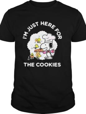 Snoopy and woodstock i'm just here for the cookies shirt