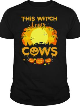 Halloween This Witch Loves Pigs Cows Pumpkins shirt
