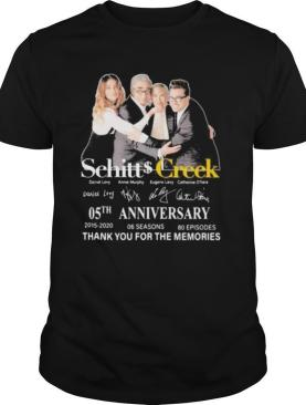 Schitt creek 05th anniversary 2015 2020 thank for the memories signatures shirt