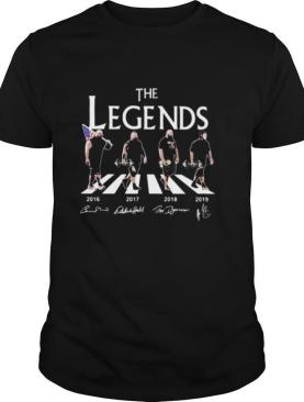 The legends crossing the line weightlifting signatures shirt