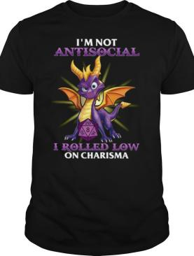 Dragon I'm Not Antisocial I Rolled Low On Charisma shirt