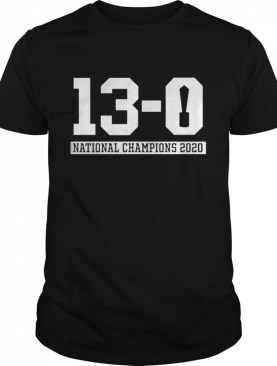 13 0 Alabama National Champions 2021 shirt