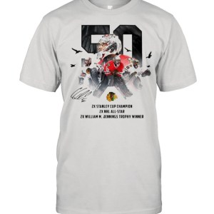 50 Corey Crawford Chicago Blackhawks 2x Stanley Cup Champion 2x NHL all-star 2x William M Jennings trophy winner  Classic Men's T-shirt