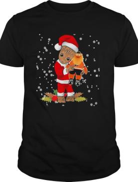 Santa Baby Groot Hug Philadelphia Flyers Christmas shirt
