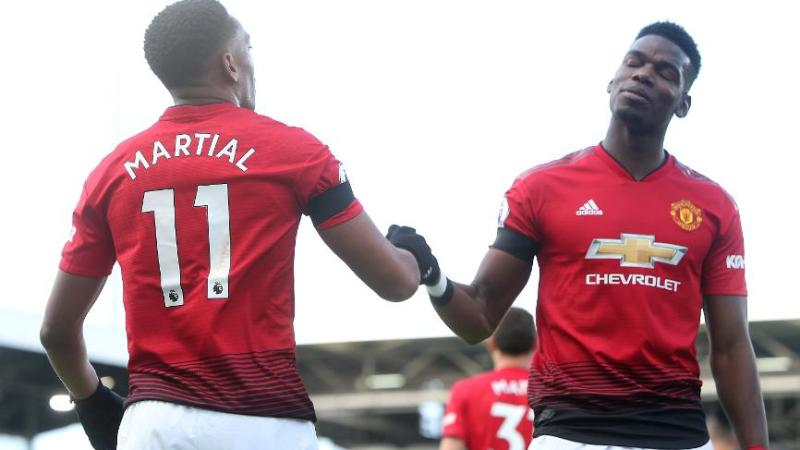Pogba and Martial missing for Manchester United as Solskjaer is handed selection