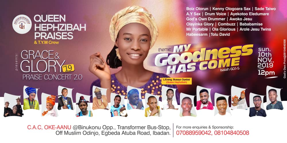 Grace & Glory Concert  2.0 With Busayo Oyebisi | 10th Nov;2019