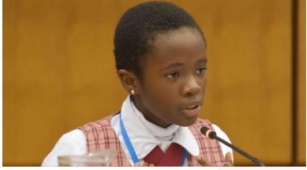 11-Year-Old Naomi Oloyede Gets International Acclaim After Her UN Address On Corruption In Vienna