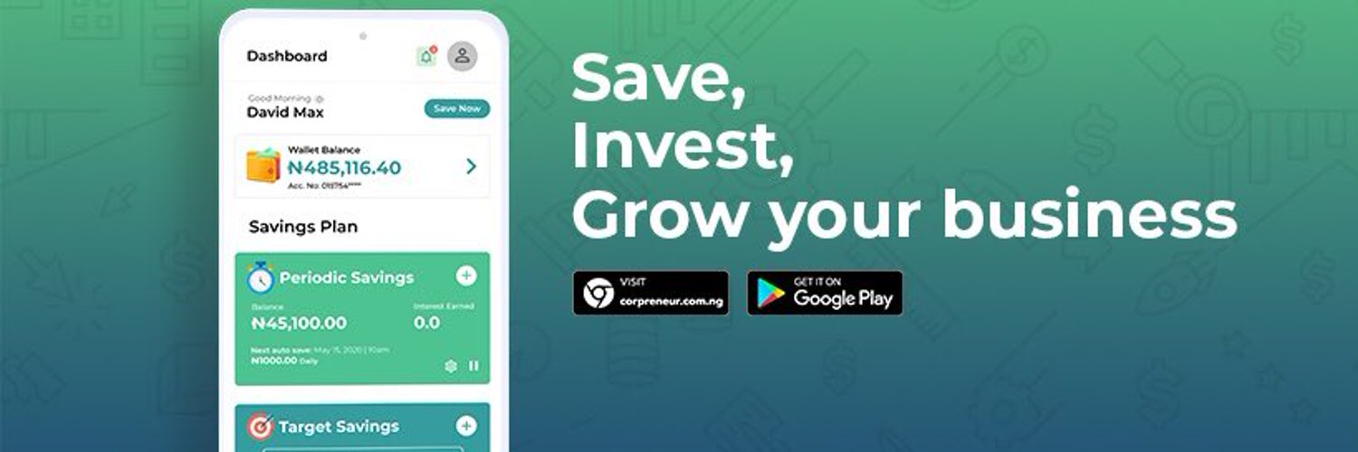 """While you """"Detty"""" this December, Corpreneur is offering you easy Means of Saving towards Financial Wellness"""