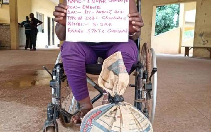 NDLEA Net caught Woman on Wheelchair, recovers 8,268kg of cocaine, heroin