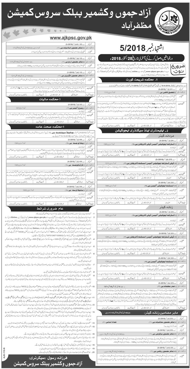 jobs in azan jamau and kashmir