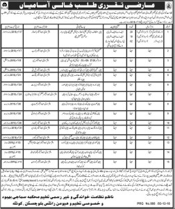 Jobs in Education Department 2019