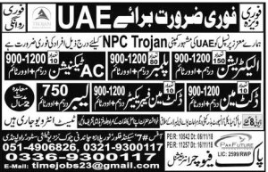 Jobs in abroad 2019