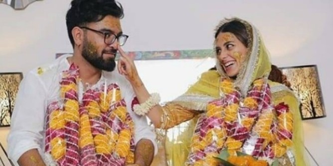 yasir hussain iqra aziz marriage pics