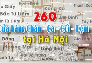 Cửa hàng bán chăn ga gối đệm tại Hà Nội