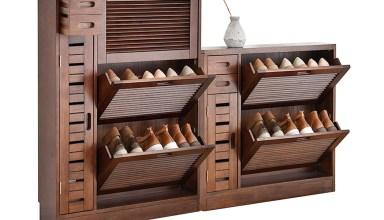 mẫu Tủ giày dép gỗ tự nhiên đẹp
