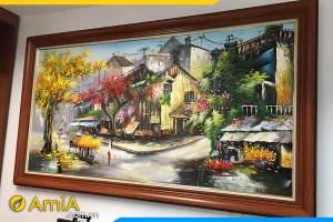 tranh sơn dầu vẽ góc phố cổ hà nội