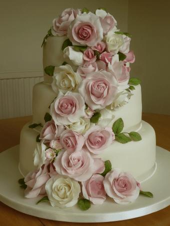Wedding cake rose garden
