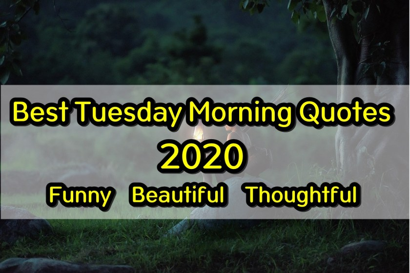 Tuesday Morning Quotes 2020 Funny, Beautiful and Thoughtful Quotes