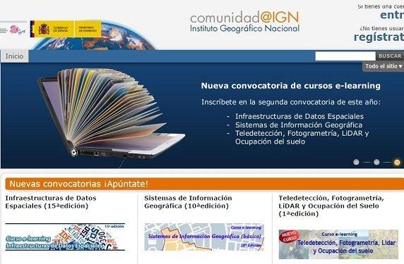 El Instituto Geográfico Nacional convoca nuevos cursos e-learning