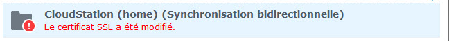 Erreur SSL CloudStation