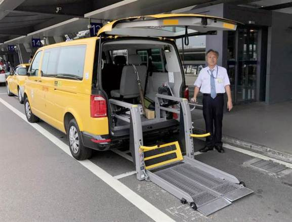 Taoyuan airport TPE providing wheelchair accessible TAXI service