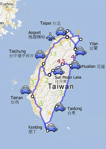 Tour Around Taiwan in 24 Hours