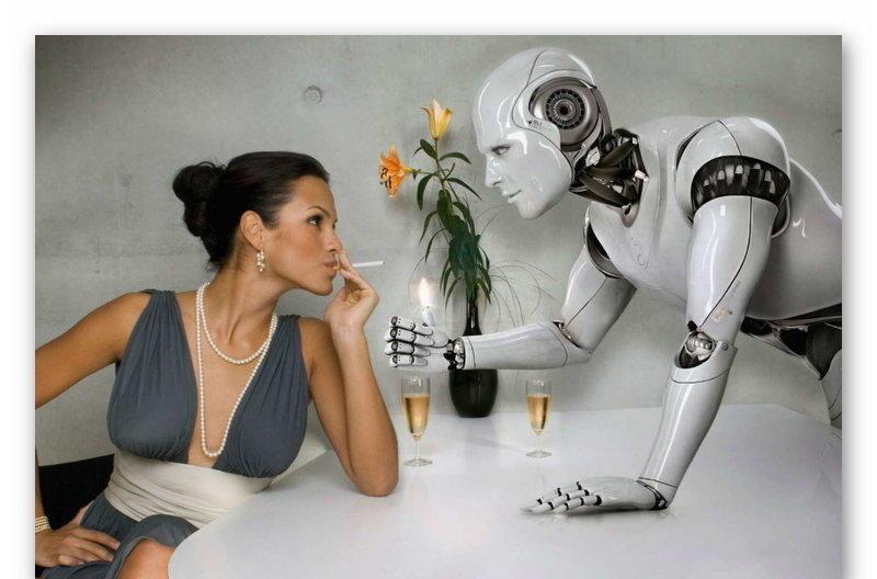 Девушка и разумный робот