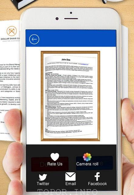 Сканирование текста с помощью смартфона