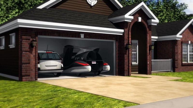 Terrafugia TF-X в гараже