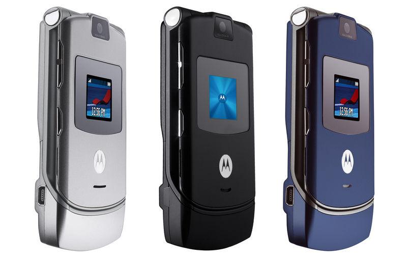 MotorolaRAZR V3 в разных цветах
