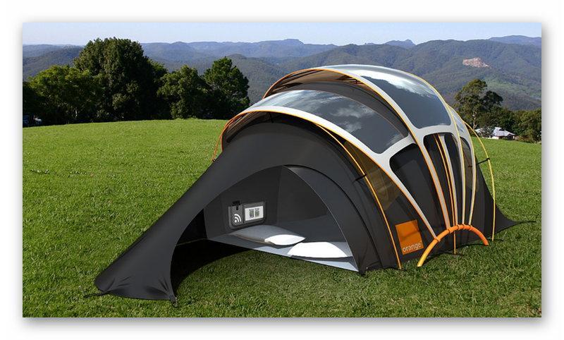 Палатка с солнечными модулями