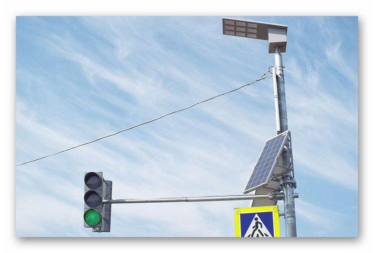 Светофор на солнечных батареях