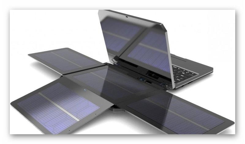 Ноутбук с солнечными панелями