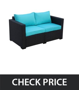 Rattaner-Patio-Wicker-Sofa-Outdoor-Garden-Love-Seat