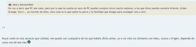Opiniones pienso Royal Canin