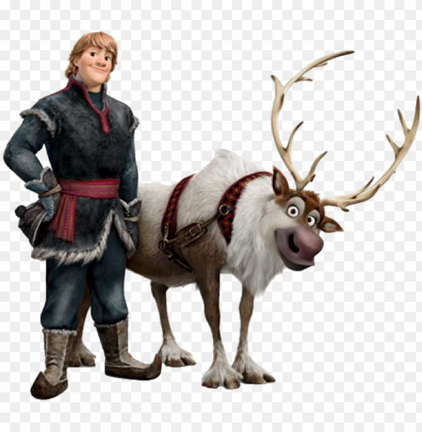 Kristoff And Sven Frozen Png Image With Transparent Background Toppng