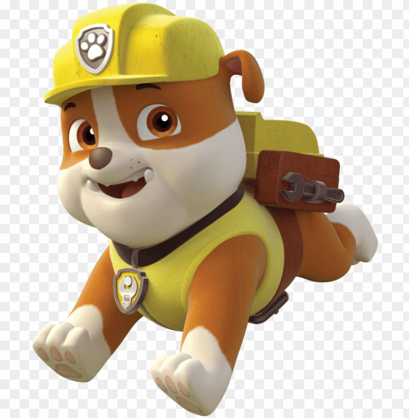 Aw Patrol Personajes Printable Paw Patrol Rubble Png Image With Transparent Background Toppng