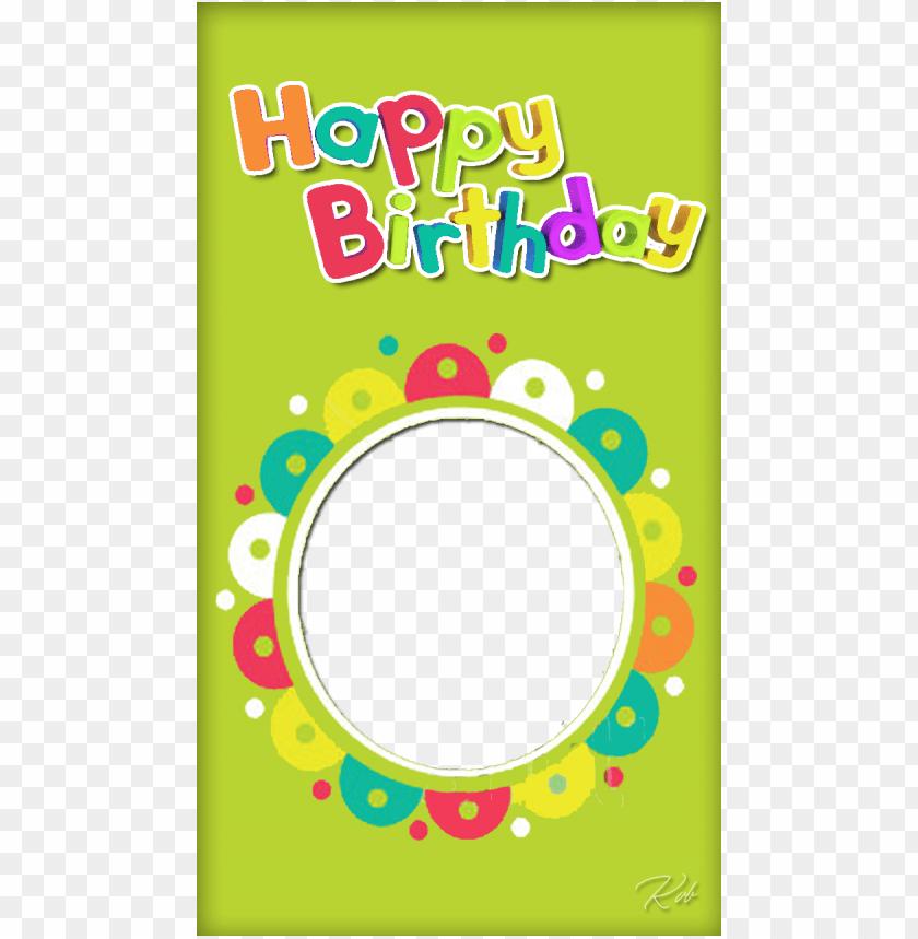 multicolor birthday frame invitation