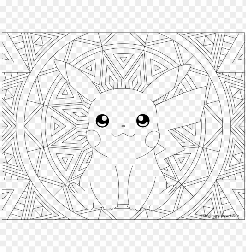 Okemon Coloring Pages Gyarados With Adult Page Pikachu Pikachu Coloring Pages Adult Png Image With Transparent Background Toppng