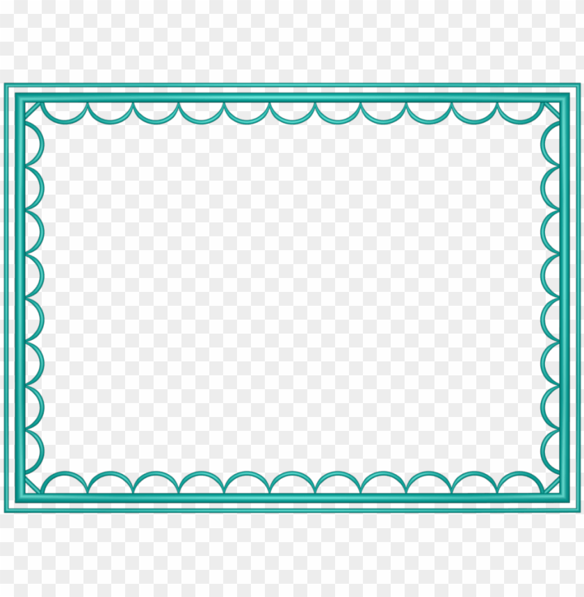 Teal Border Frame Png Free Png Images Toppng