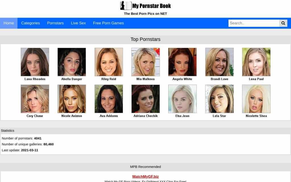 Mypornstarbook - top Pornstar Databases