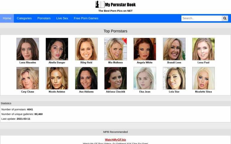 Mypornstarbook - top Pornstar Databases