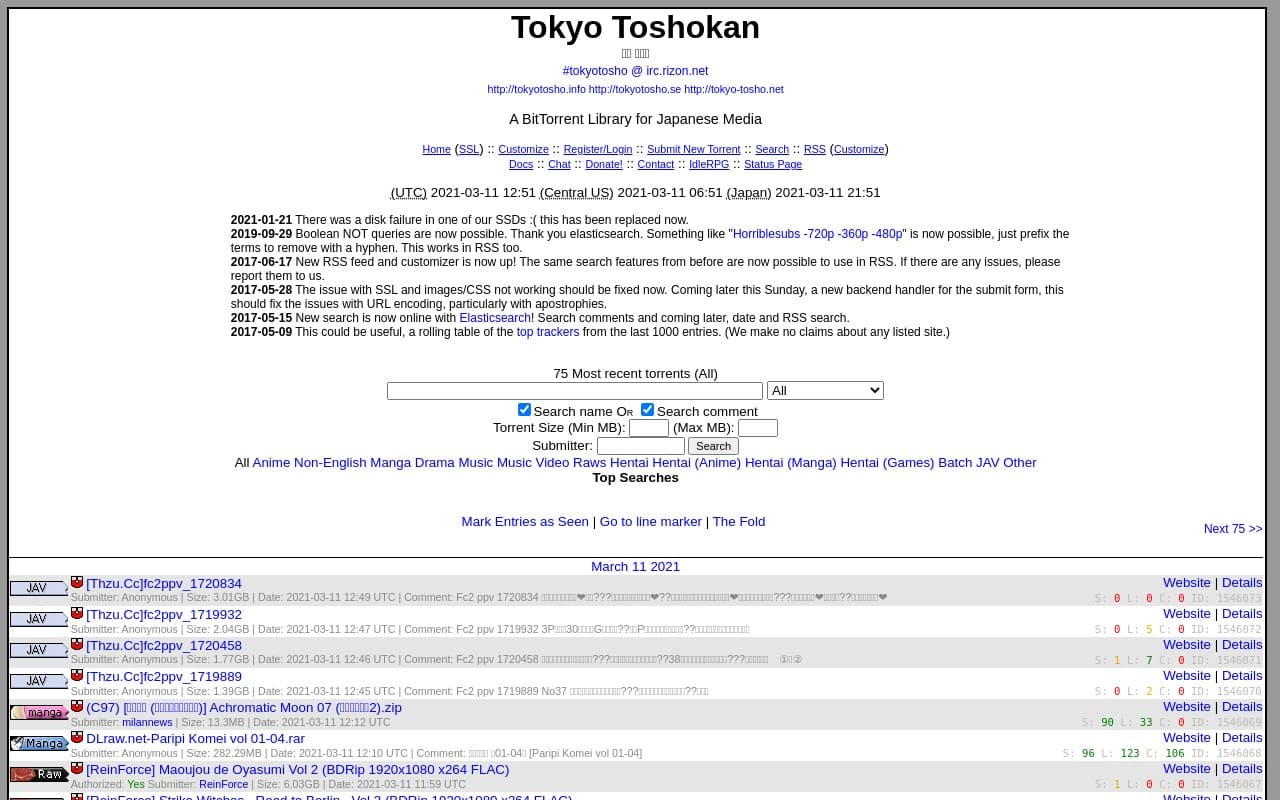 Tokyotosho - top Porn Torrent Sites