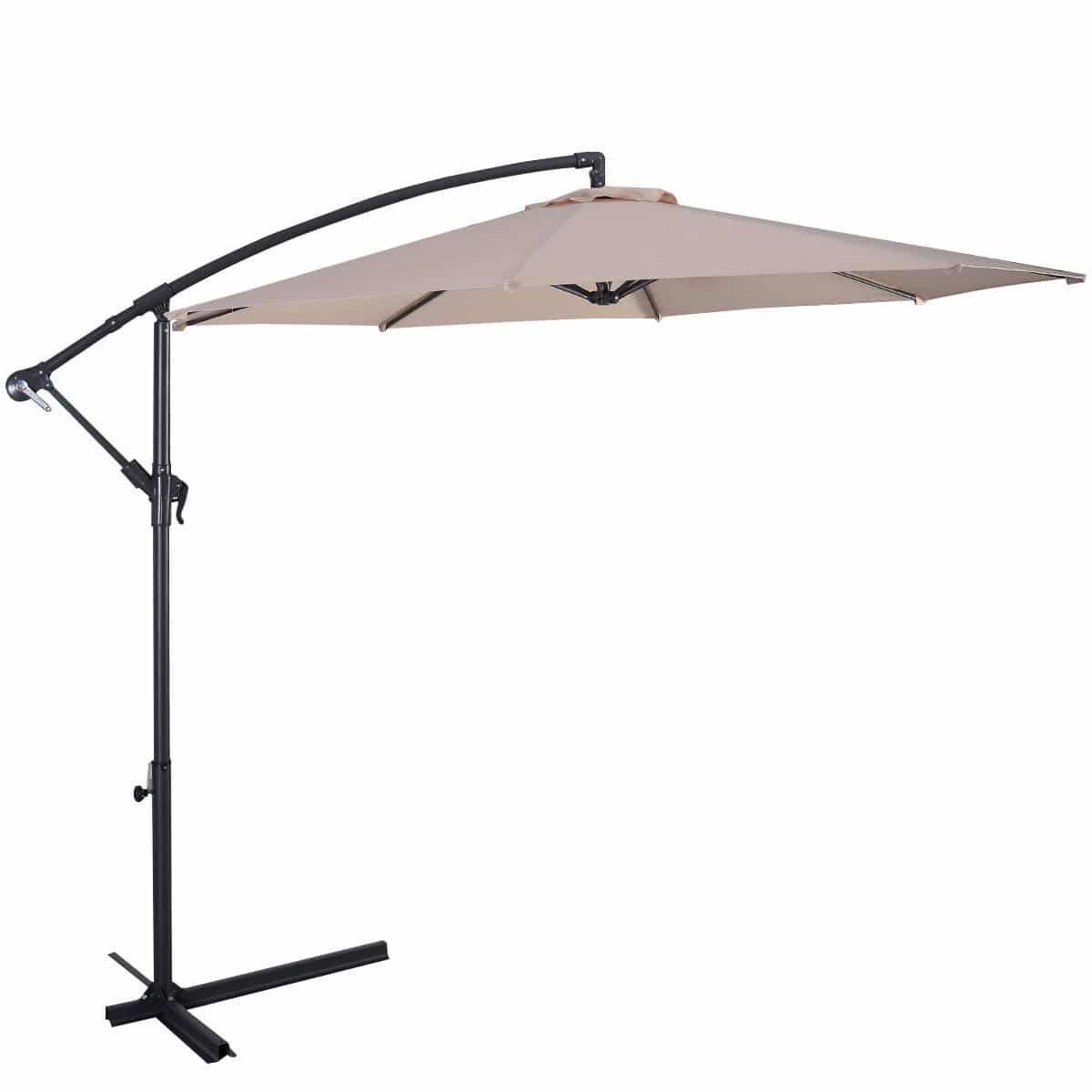 Kicking off our list of the top 3 best offset patio umbrellas is the Giantex 10u2032 Offset Hanging Patio Umbrella. This is the cheapest umbrella on our list ...  sc 1 st  Top Portal Review & Top 3 Best Offset Patio Umbrellas Buying Guides