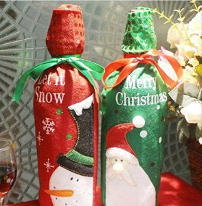 ykd wine bottle decorations - Christmas Bottle Decorations