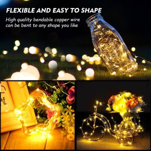 cymas led wire lights best wine bottle led string light for outdoor decoration
