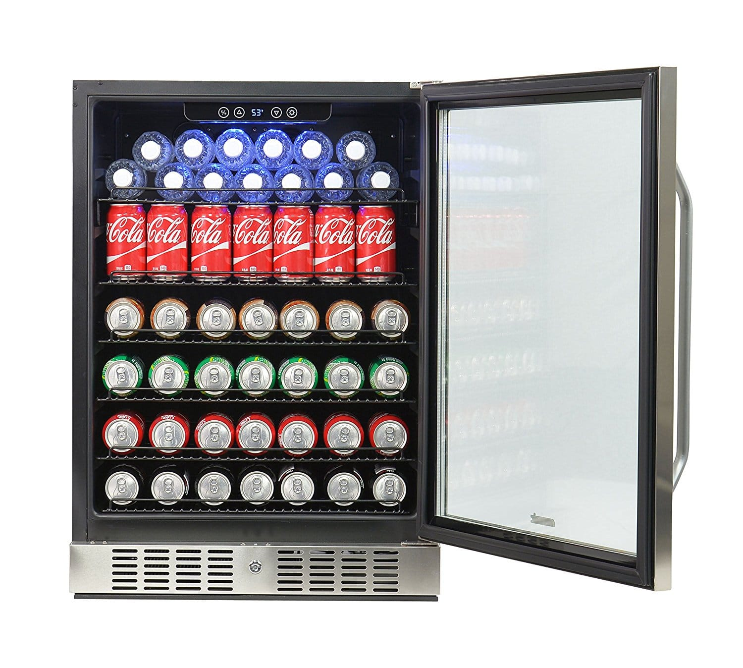 NewAir ABR 1770 177 Can Deluxe Beverage Cooler U2013 Best Big Undercounter  Beverage Refrigerator Fit 177 Cans