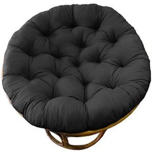 Cotton Craft Papasan Chair Cushion Black, Pure 100% Cotton duck fabric, Fits Standard 45IN rnd Chair