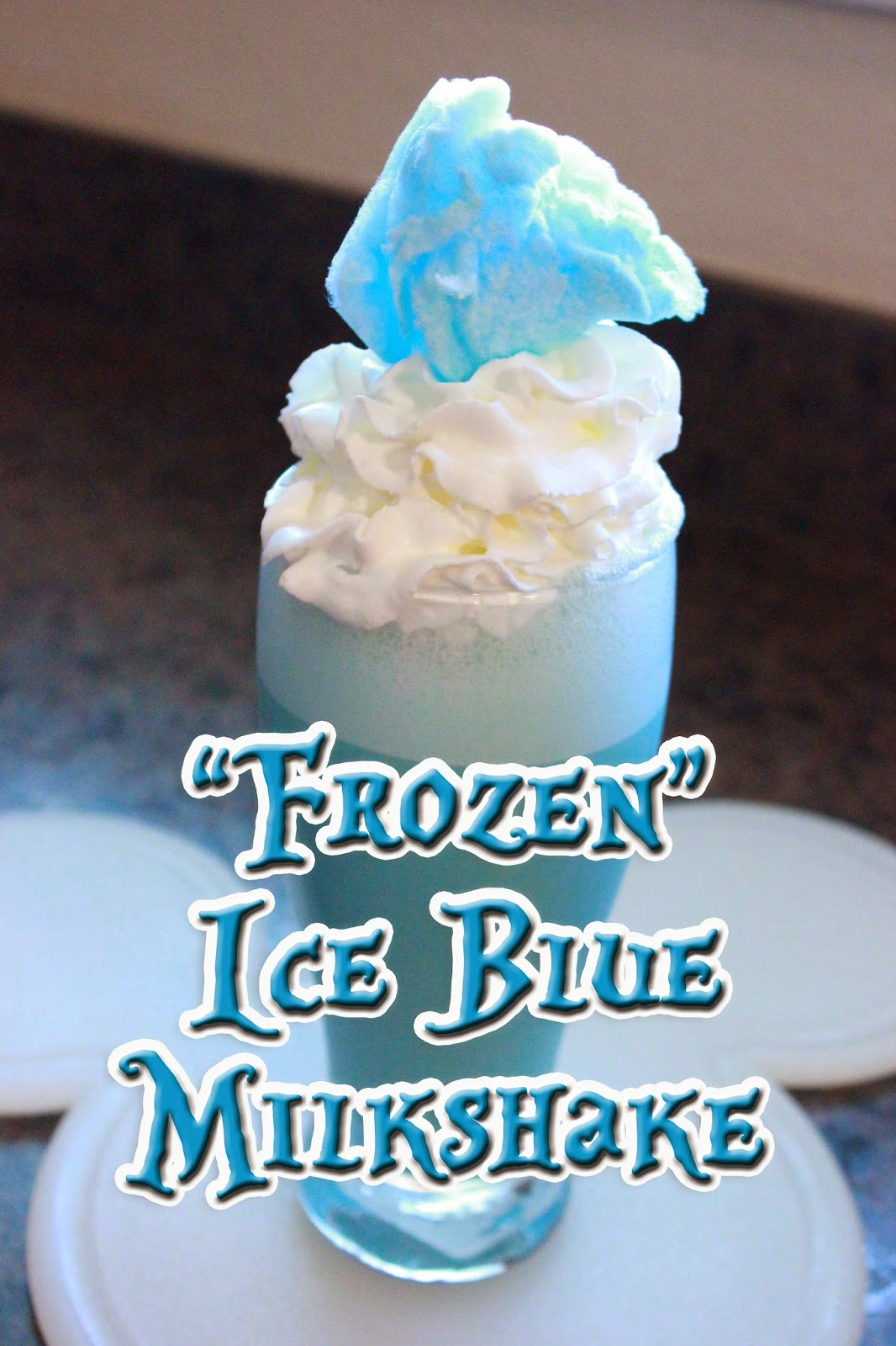 """Frozen"" Inspired Ice Blue Milkshake Recipe"
