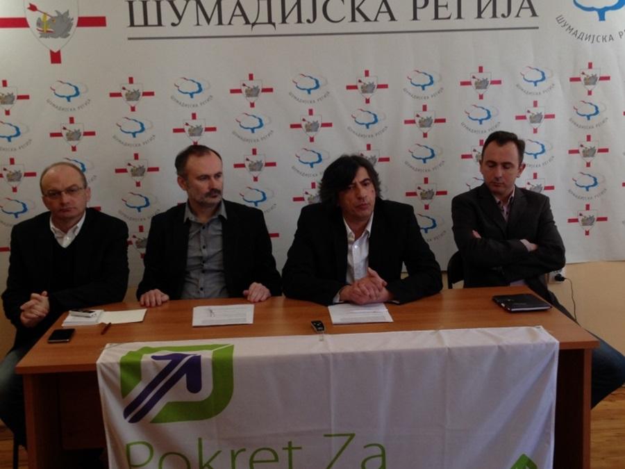Шумадијска регија и Покрет за будућност Горњег Милановца потписали Споразум о стратешком партнерству